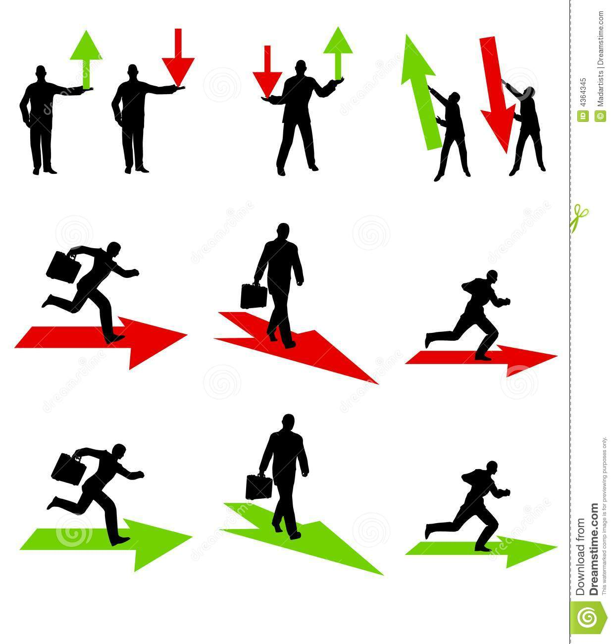 Businessman Profits And Losses Stock Photography - Image: 5894532
