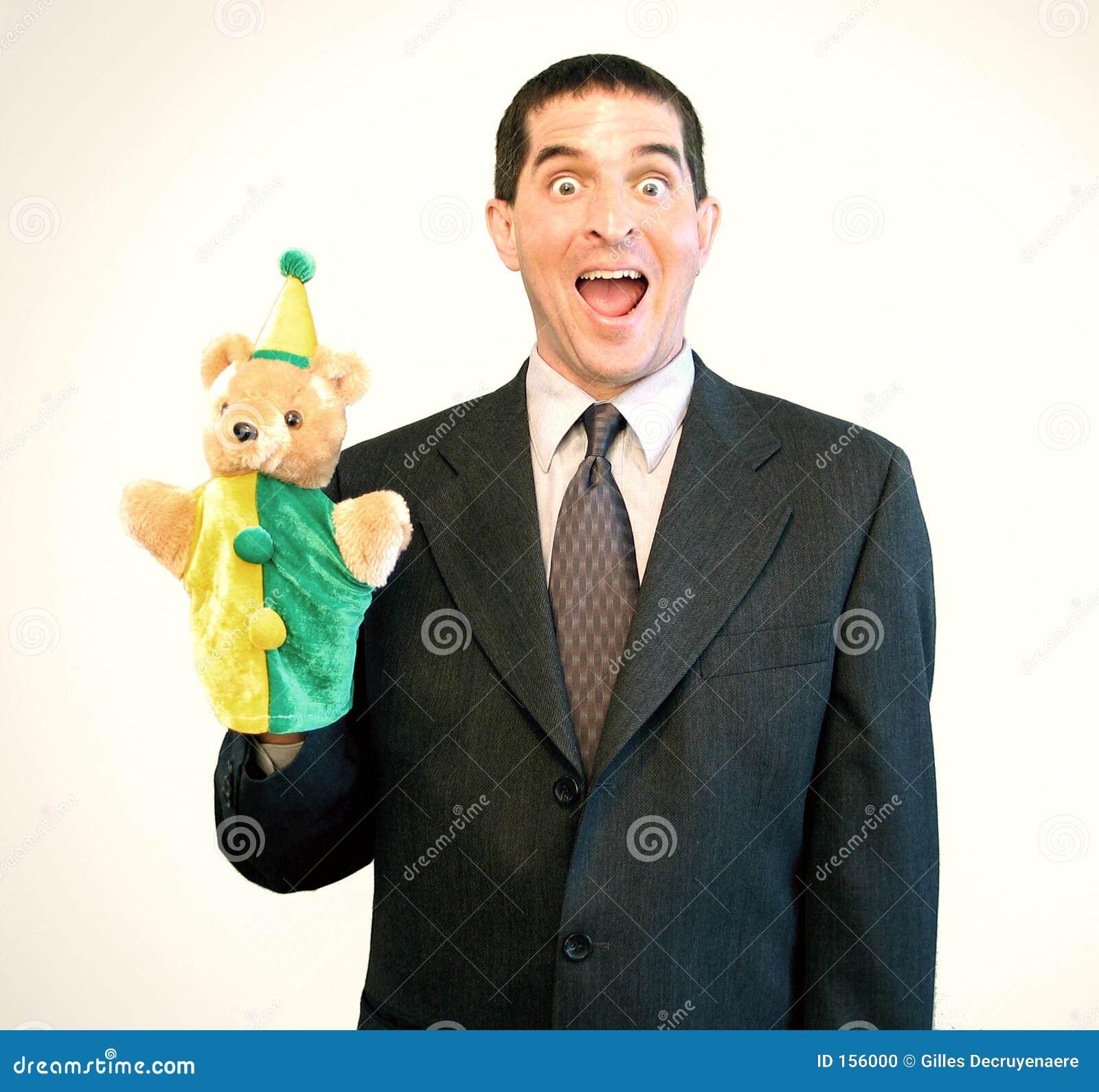 Businessman Puppet Surprise