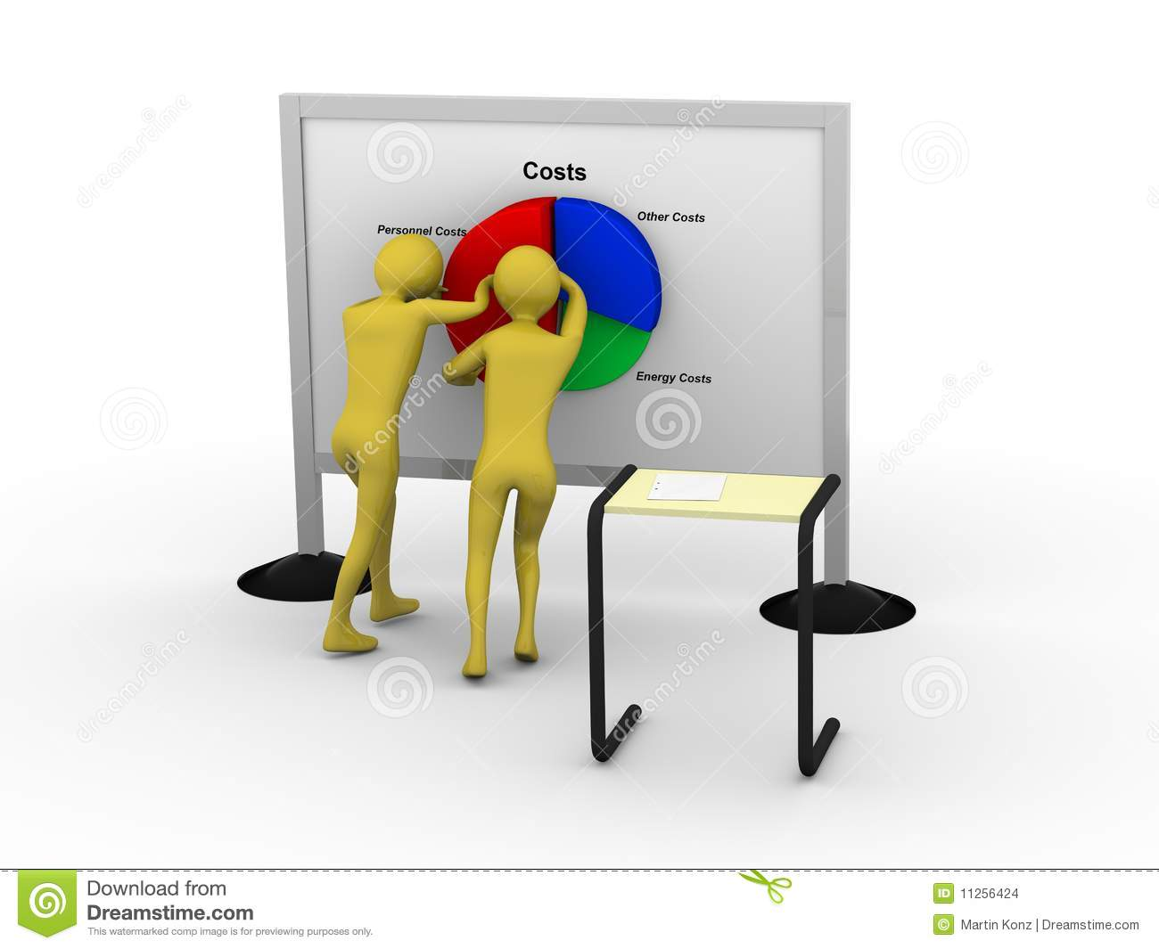 Download Businessman pushing costs stock illustration. Illustration of academic - 11256424