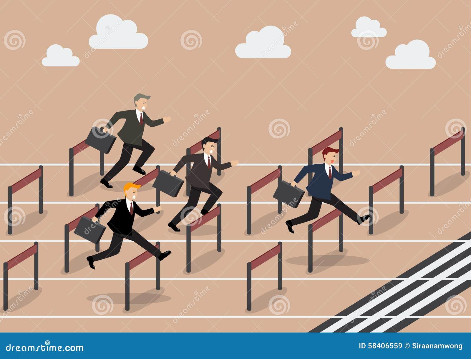 businessman race hurdle competition stock vector image hurdle race clipart Hurdle Silhouette
