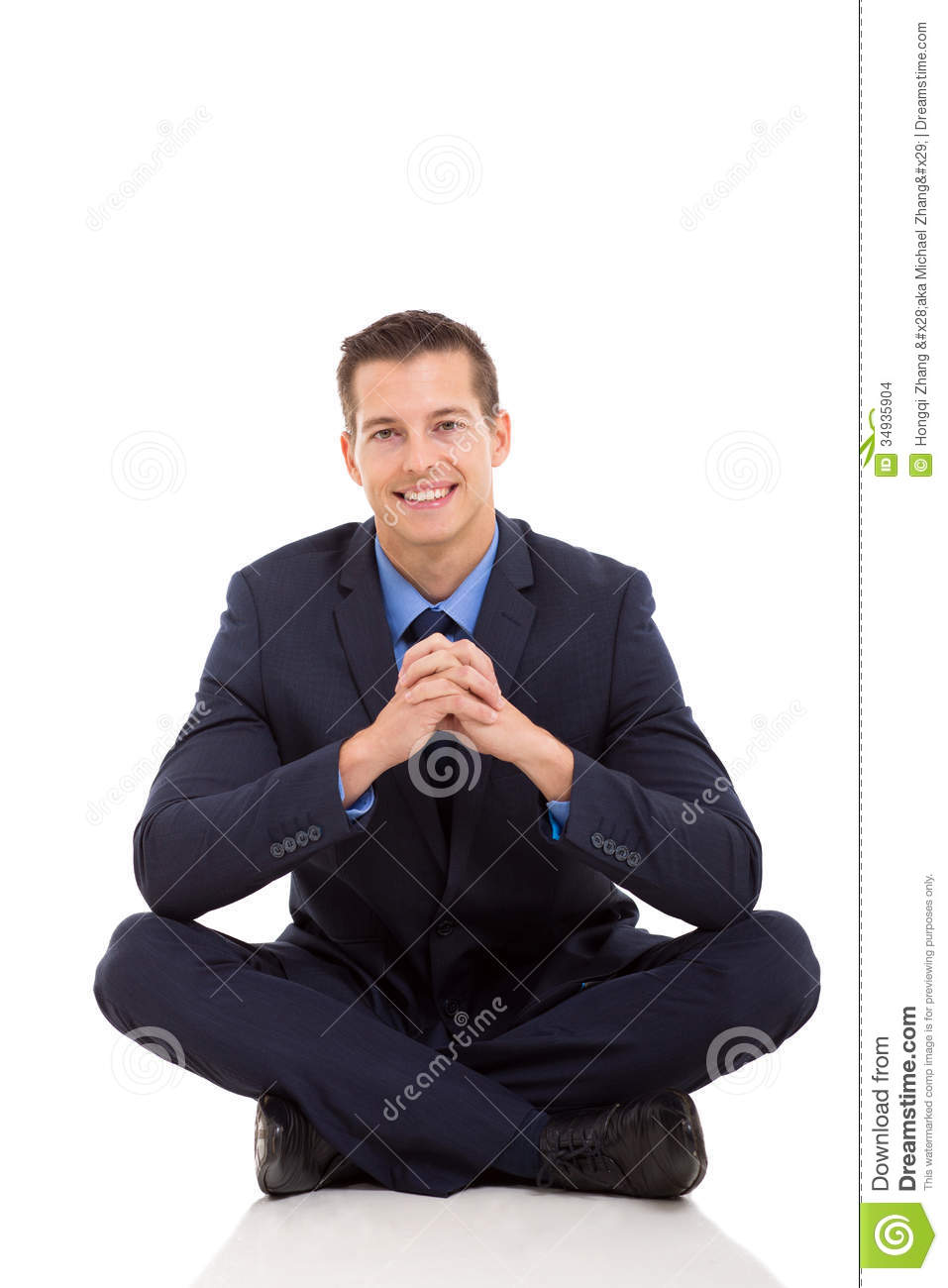 Businessman relaxing floor