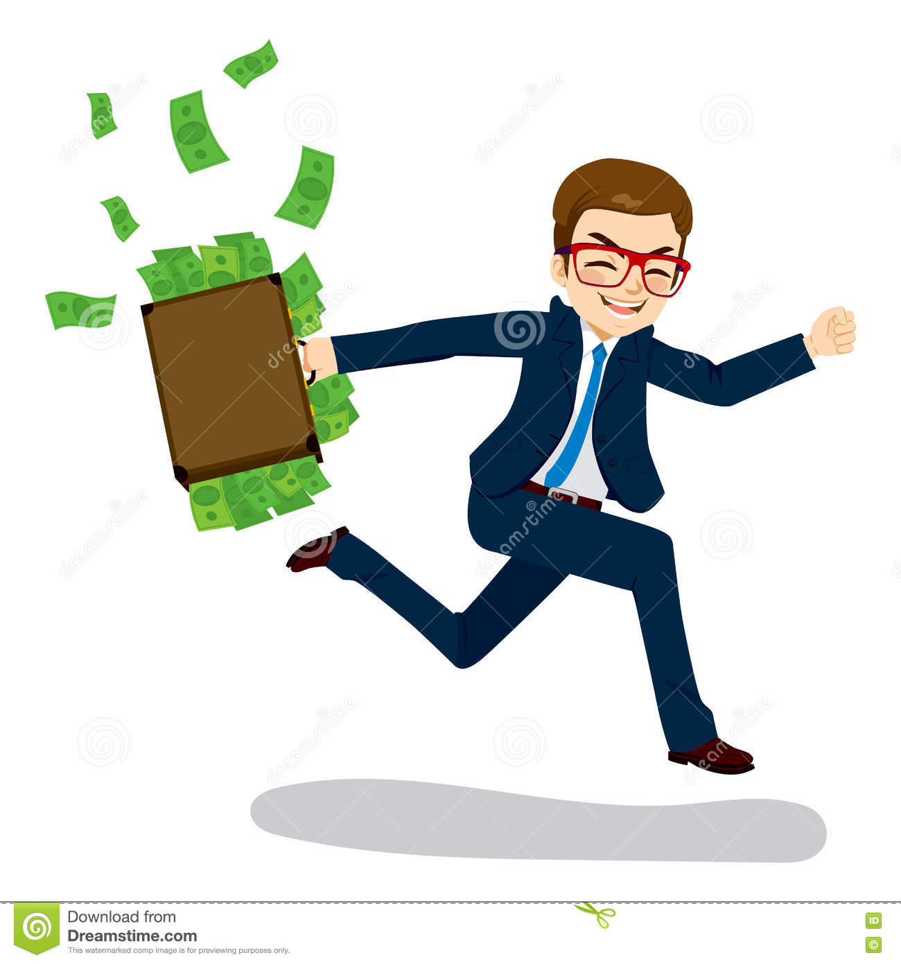 Money Clipart Business - Running For Money Png Transparent Png (#4045328) -  PinClipart