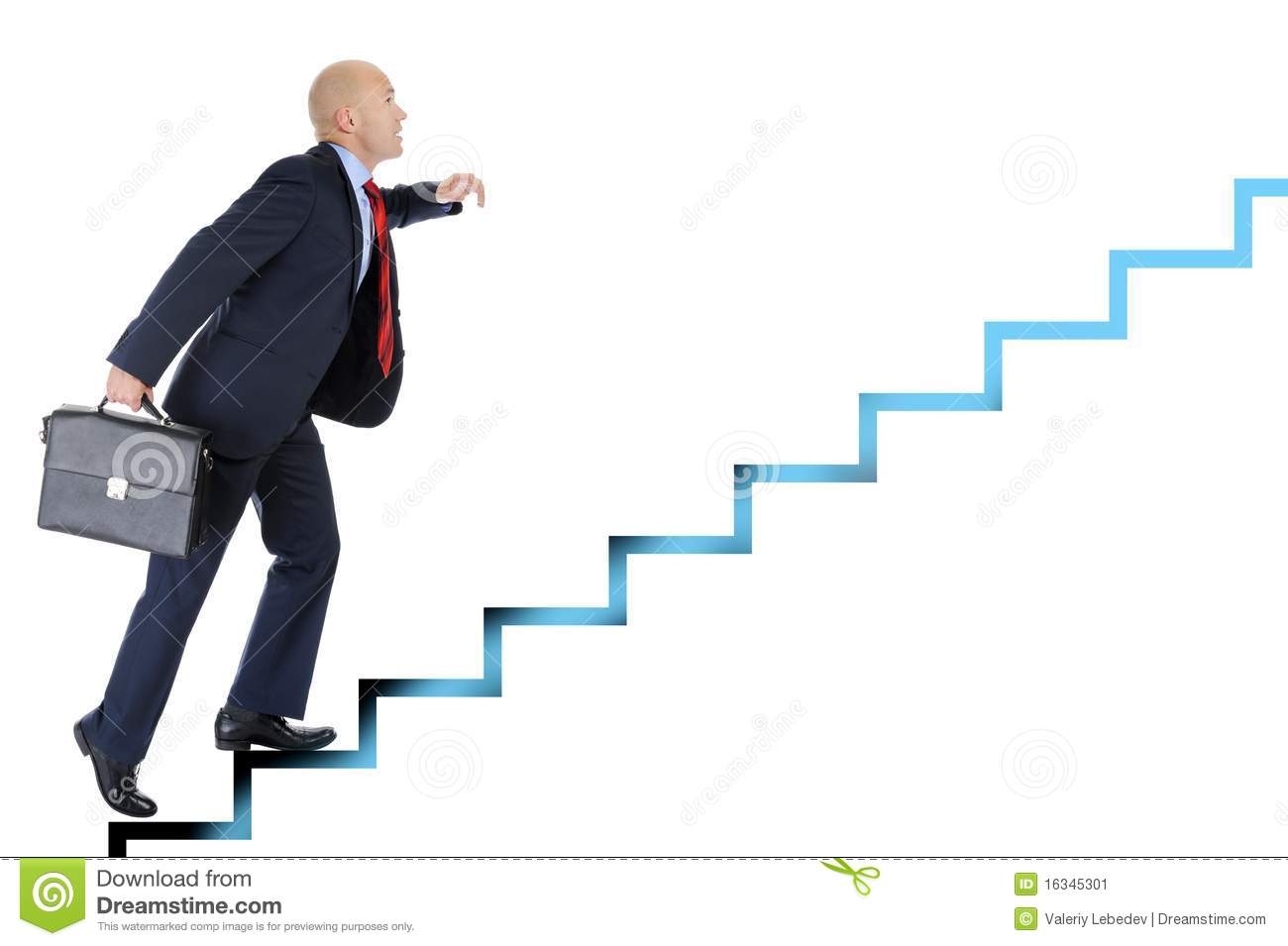 young professional up the career ladder stock vector image businessman runs up the career ladder stock image