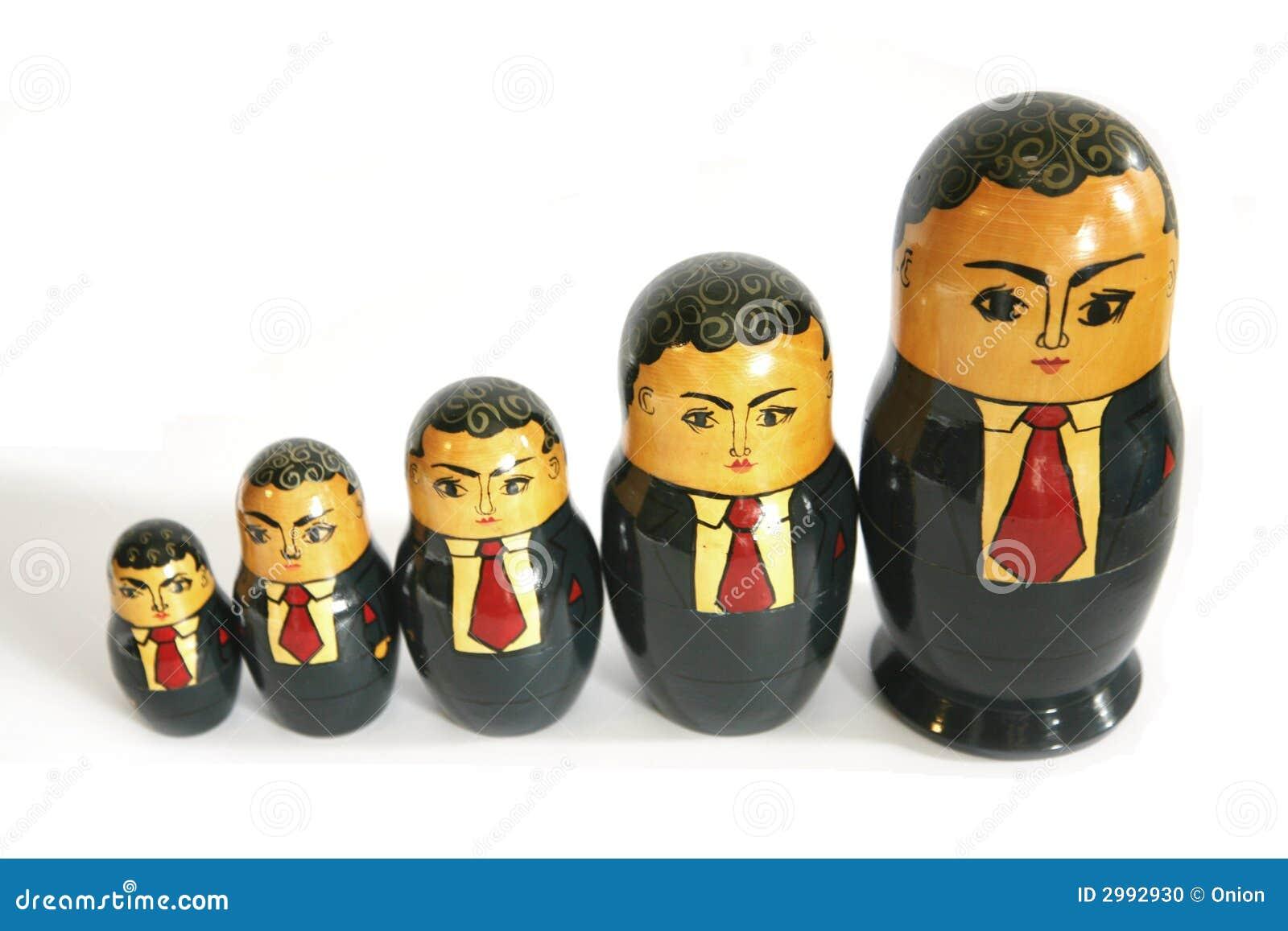 Businessman Russian dolls