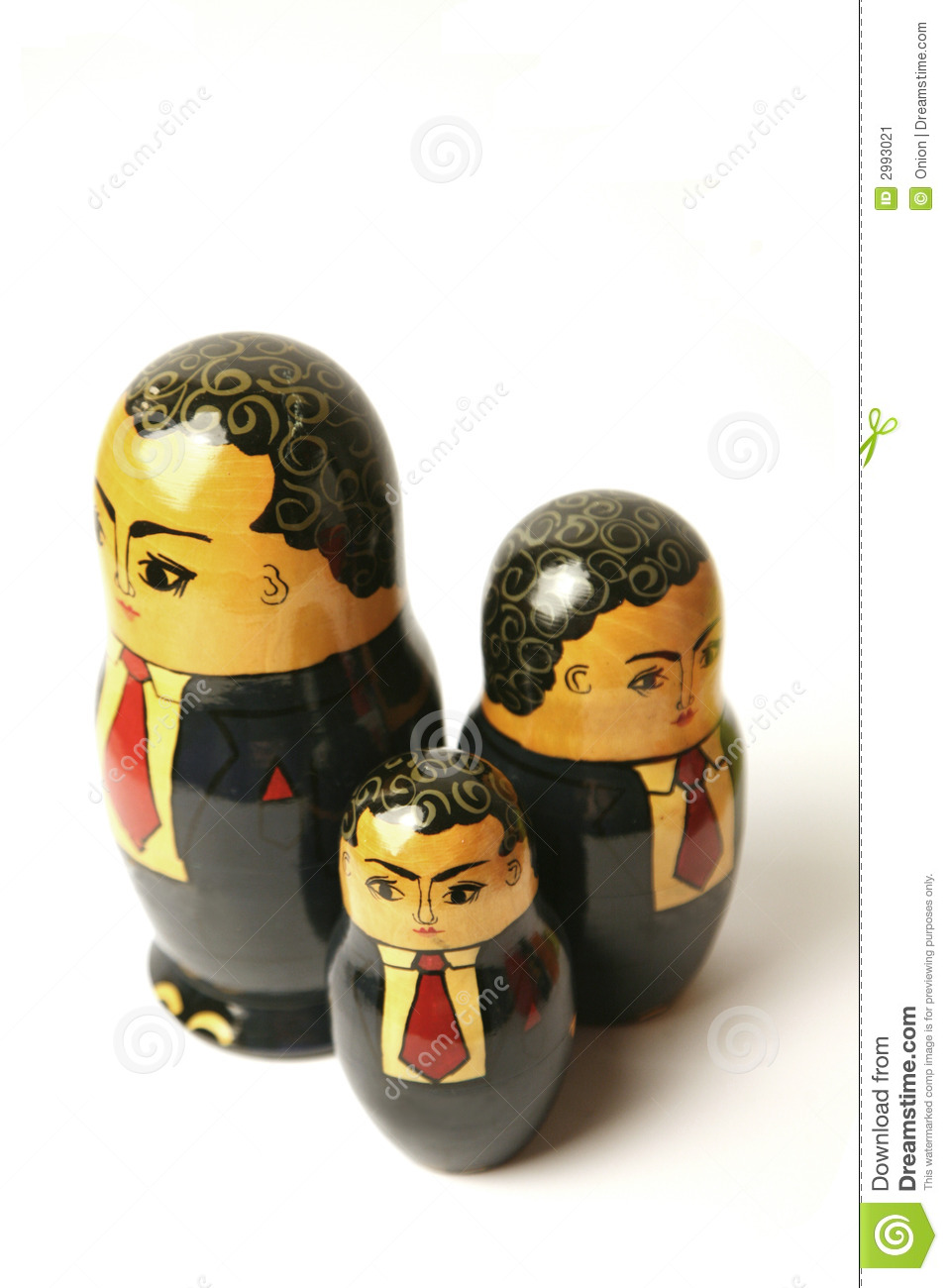 Businessman Russian dolls