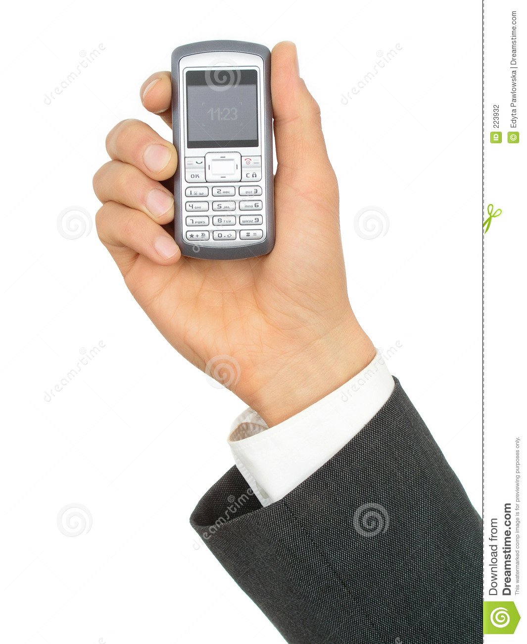 Businessman s Hand Holding a Cell Phone