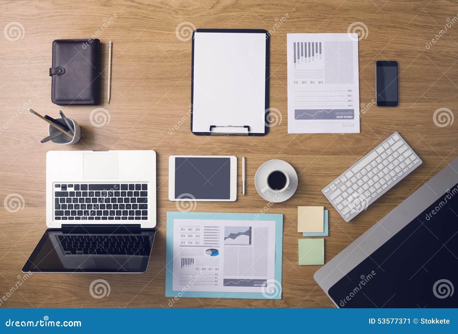 businessman s tidy desktop stock image image of occupation 53577371