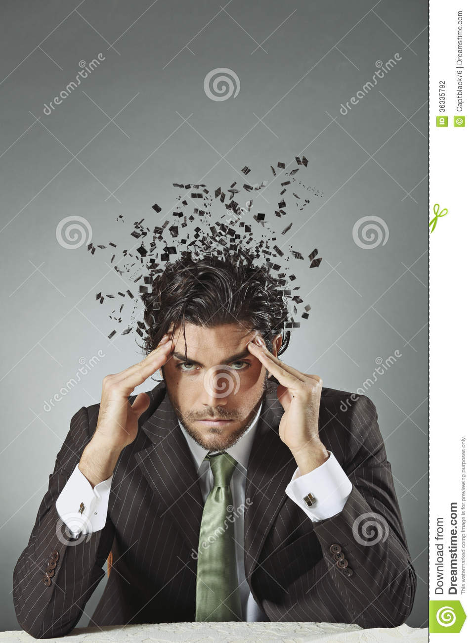Businessman With Scattered Mind Stock Photography Image