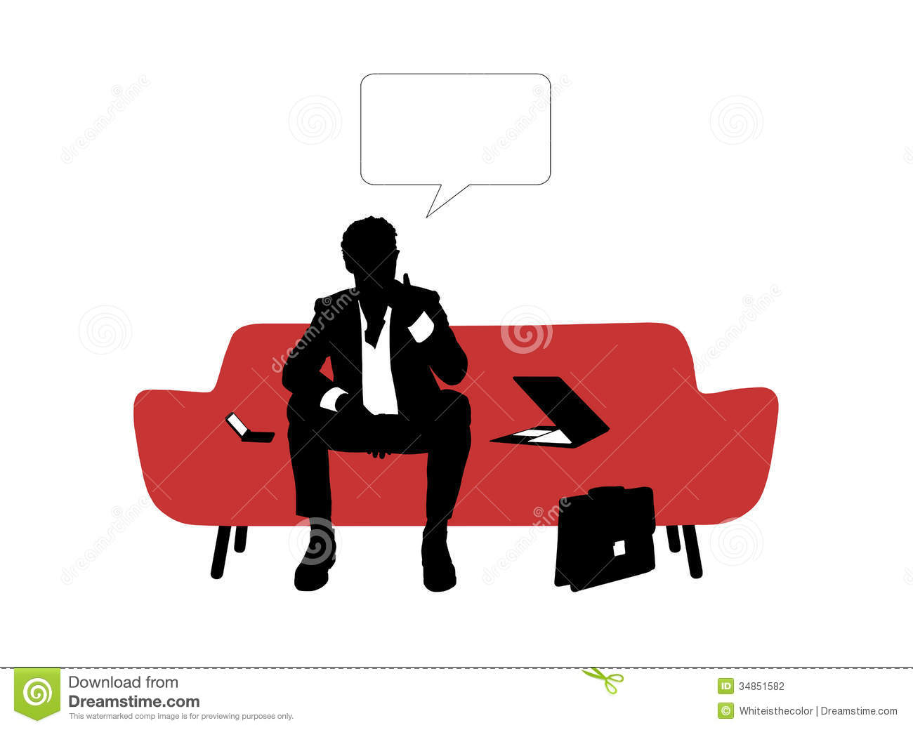Young Businessman With Young Businessman With Young  : businessman seated red sofa thinking black white silhouette young nervous trying to find solution his business 34851582 from malemodelspicture.net size 1300 x 1040 jpeg 63kB