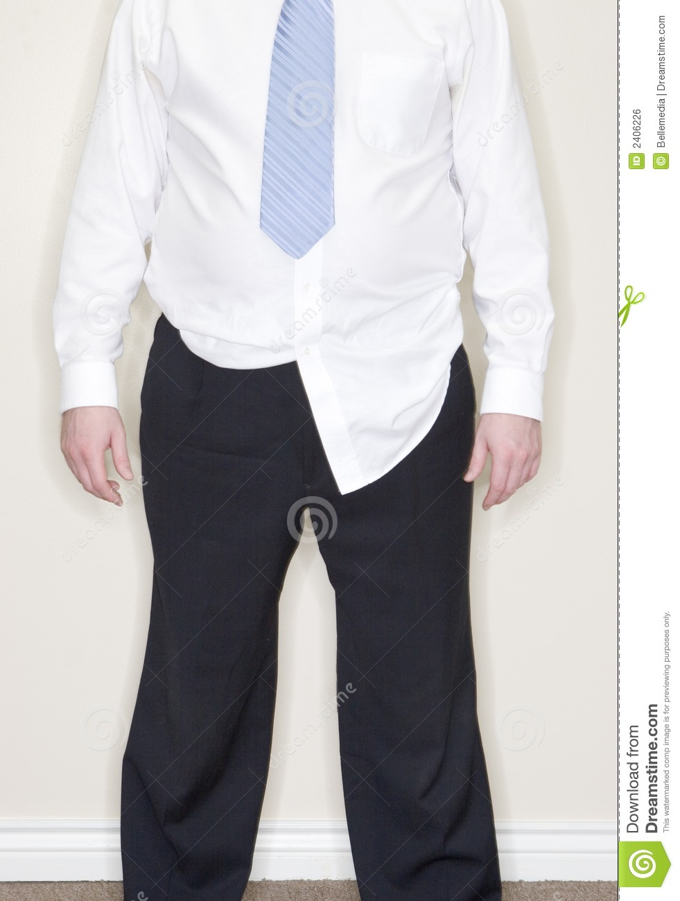 Businessman shirt untucked stock photo image of dingy for Untucked dress shirt with tie