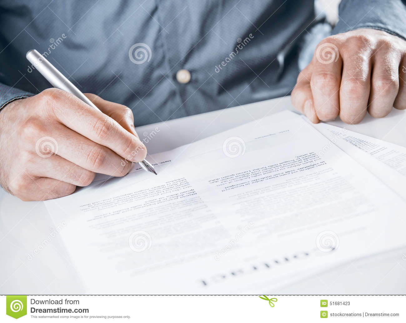 Businessman Signing A Legal Document Stock Image Image Of - Signing legal documents