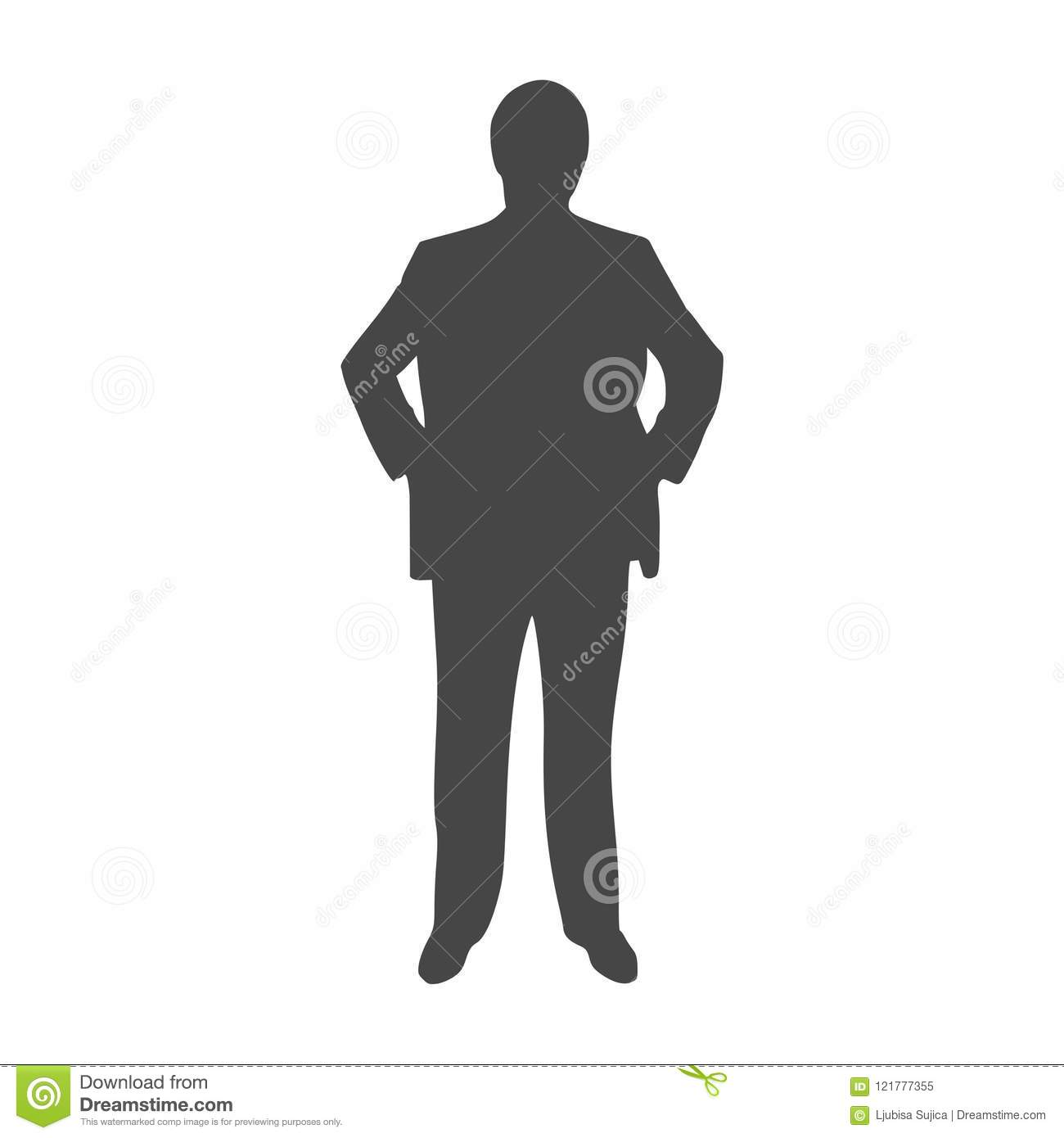 businessman silhouette icon black and white icon stock vector