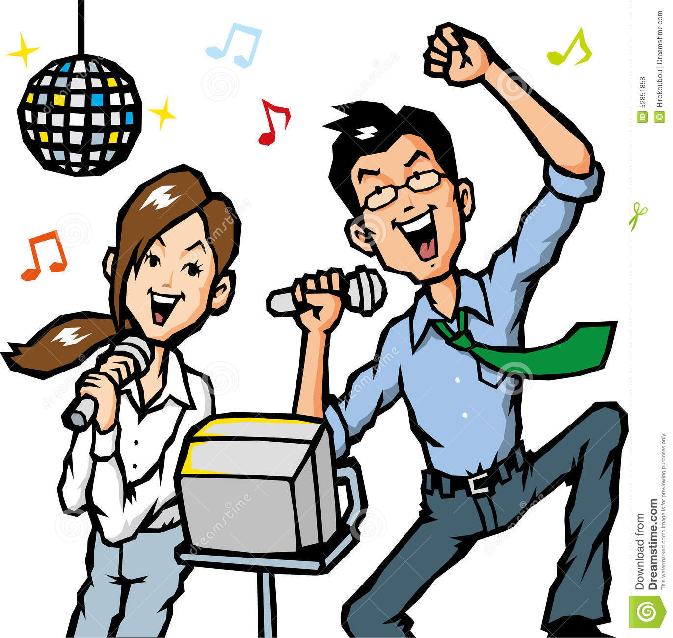 One Man Song Download By Singa: Businessman Sing A Song Stock Illustration. Image Of Girl