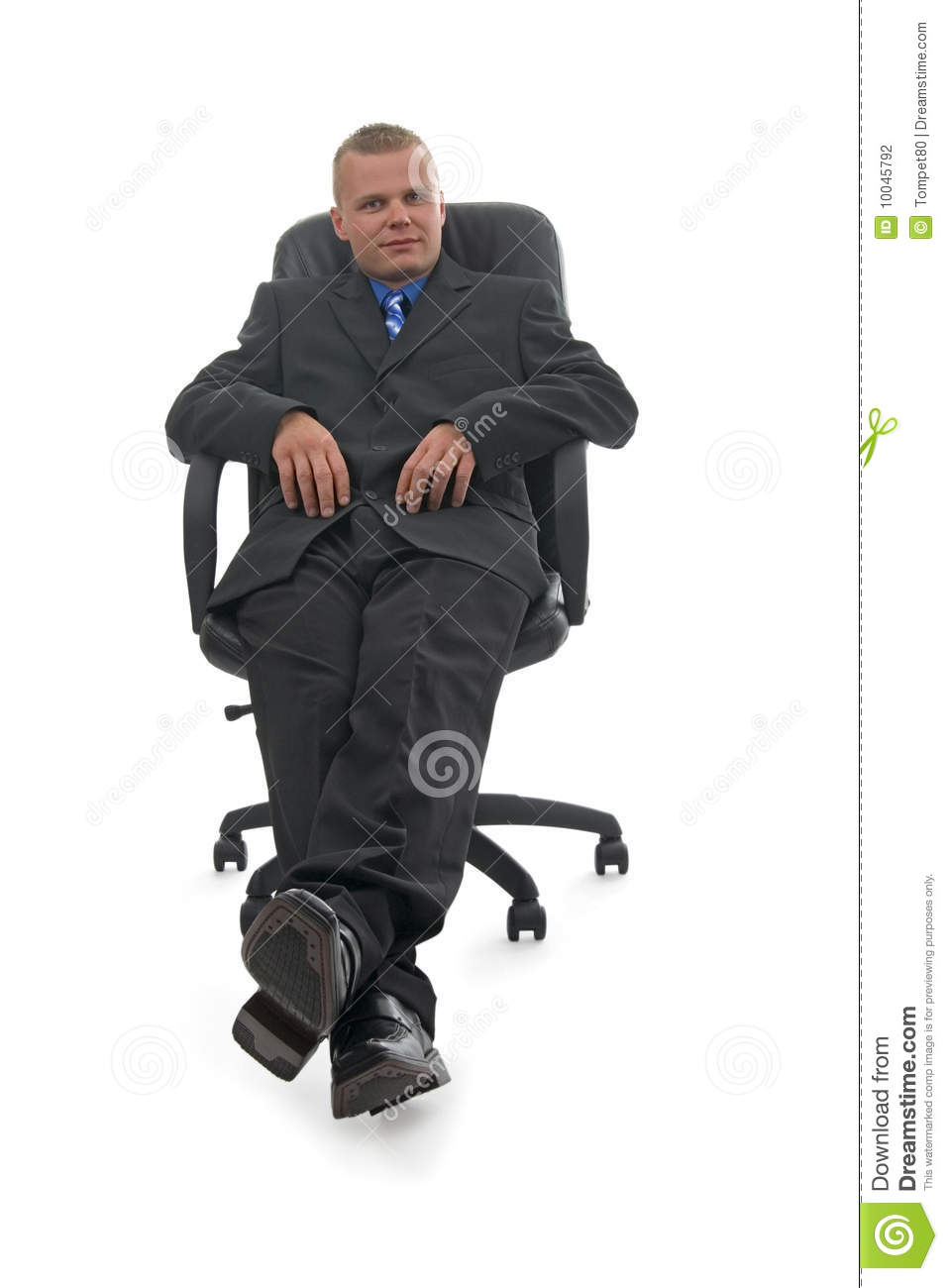 Businessman sitting in armchair stock photography image for Sitting in armchair