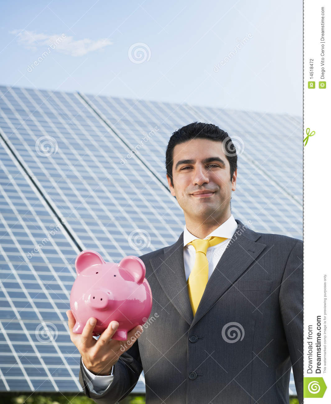 Download Businessman And Solar Panels Stock Photo - Image of adult, businessperson: 14518472