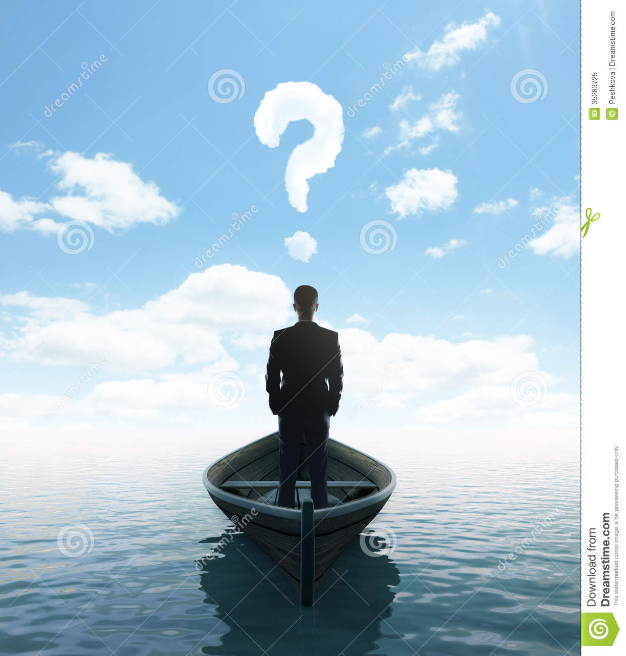 ... Standing On A Boat Royalty Free Stock Photo - Image: 35283725