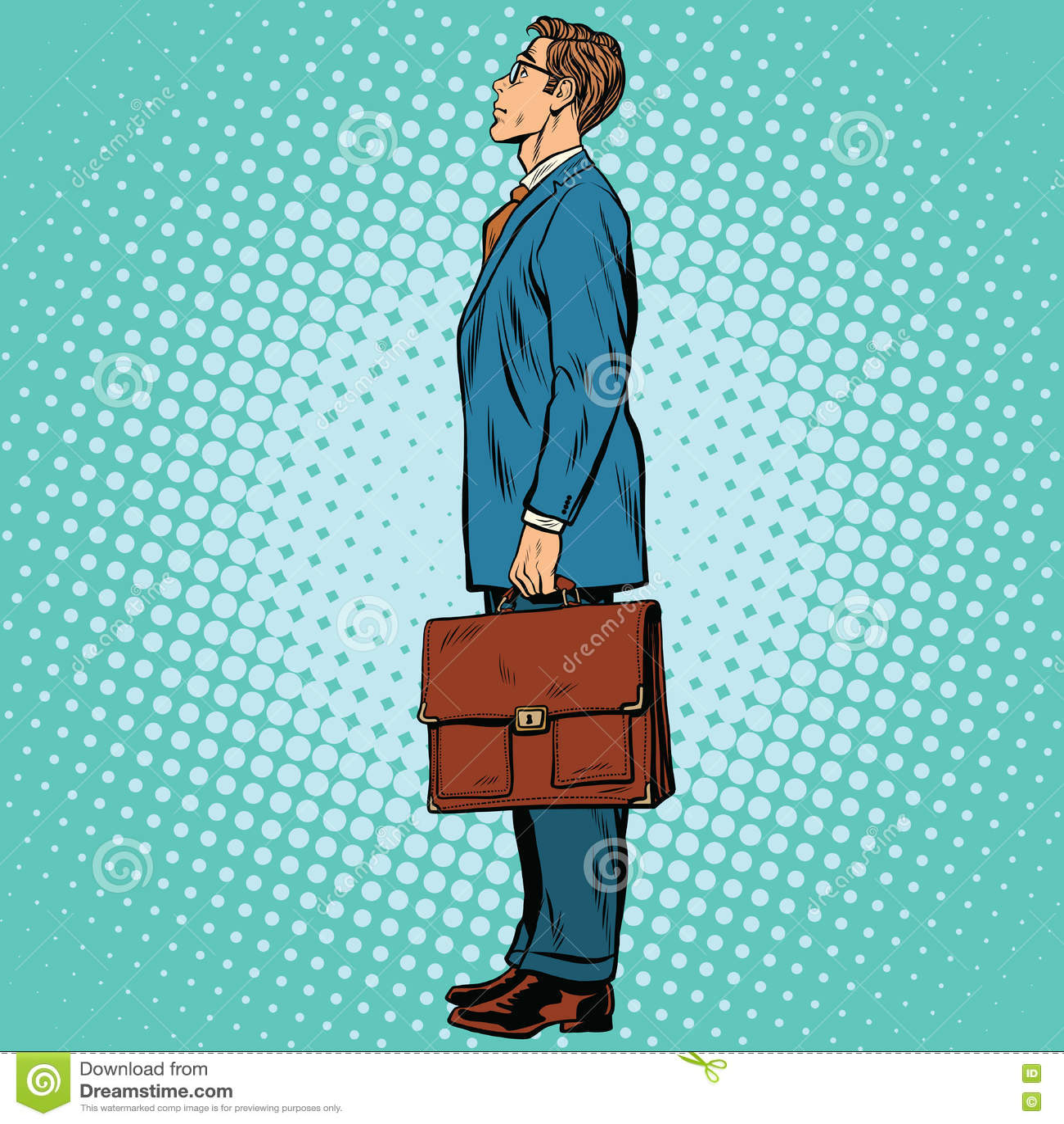 Businessman Standing Sideways Stock Vector Illustration Of Profile