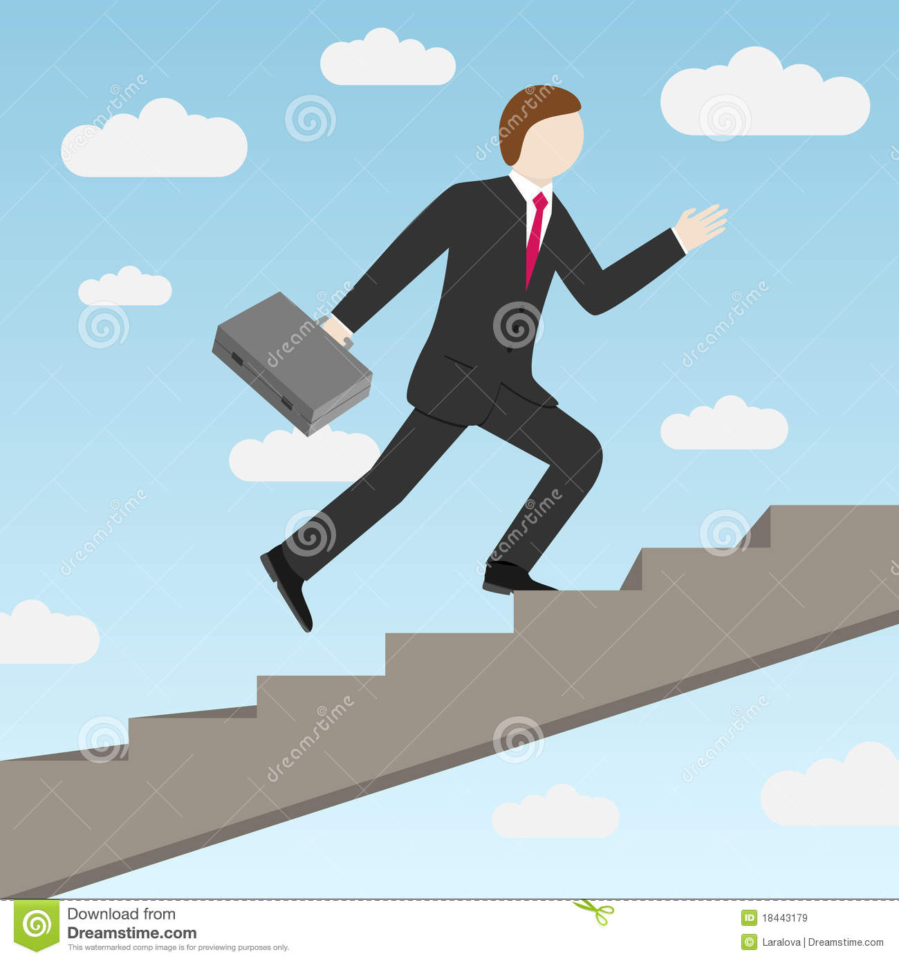 Businessman Stepping Up The Stairs Royalty Free Stock ... Stepping