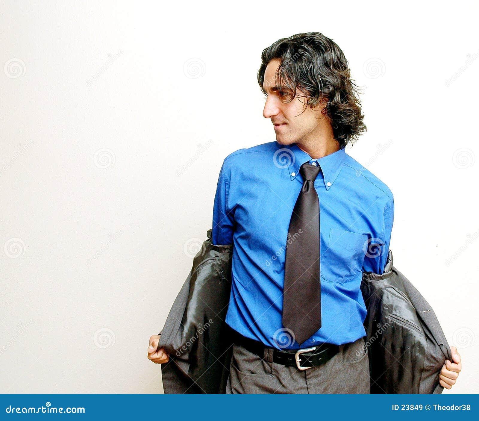 Businessman stripping