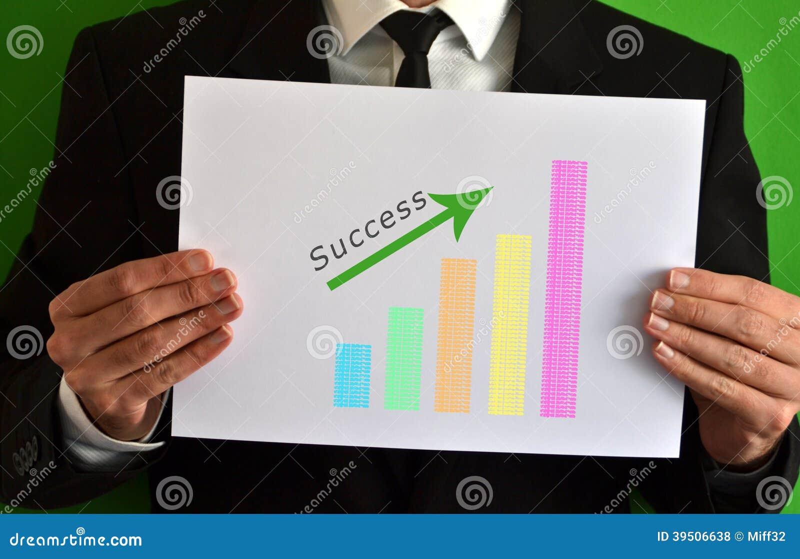 Businessman and success concept symbol