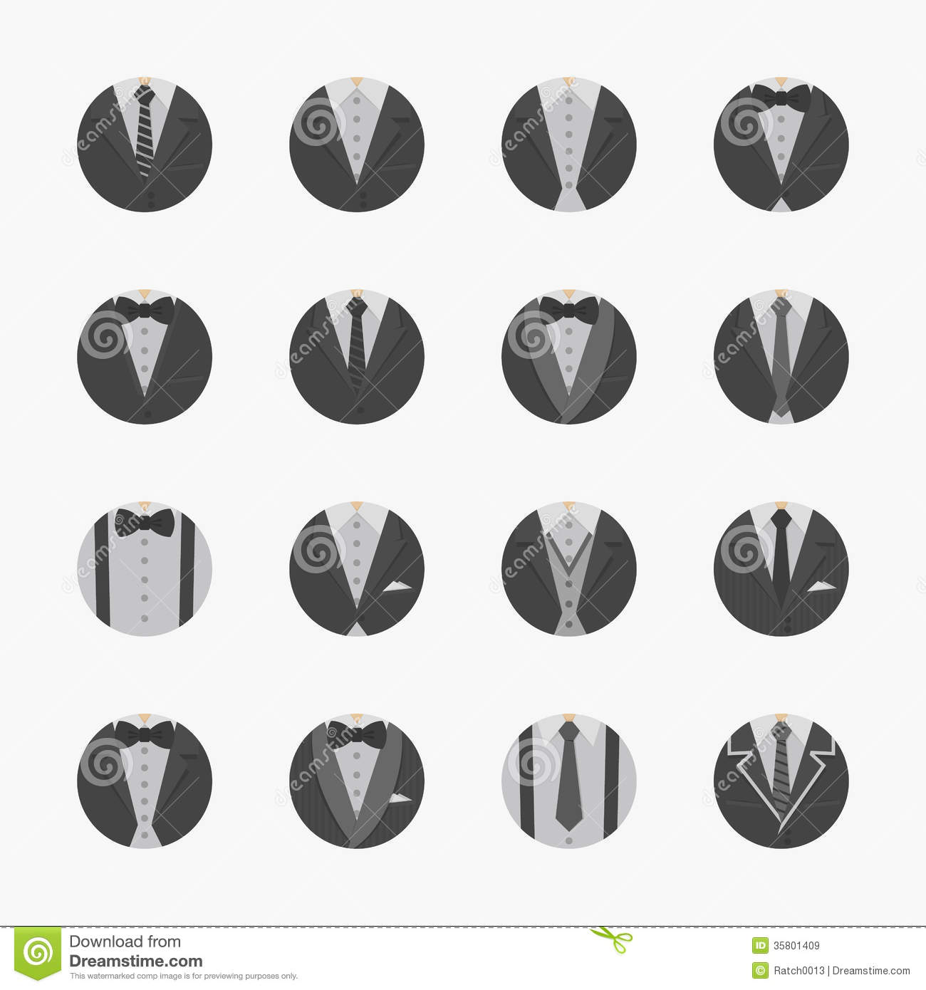 Businessman suit icons with white background stock vector businessman suit icons with white background publicscrutiny Gallery