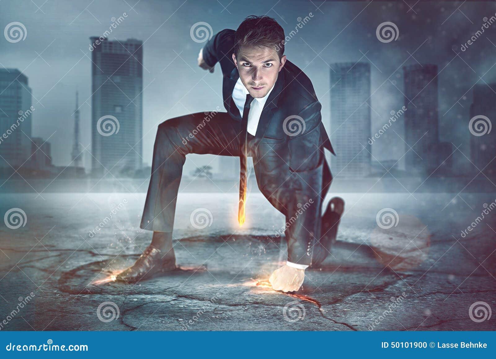 Businessman Superhero stock photo. Image of boss, city - 50101900
