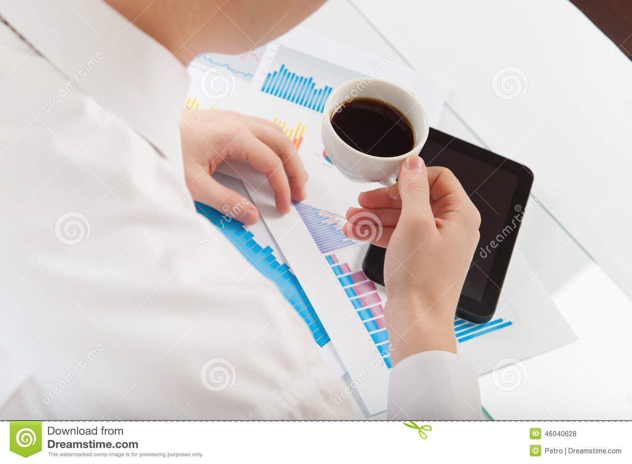Take Break Coffeebreak : Businessman take coffee break stock photo image of angle