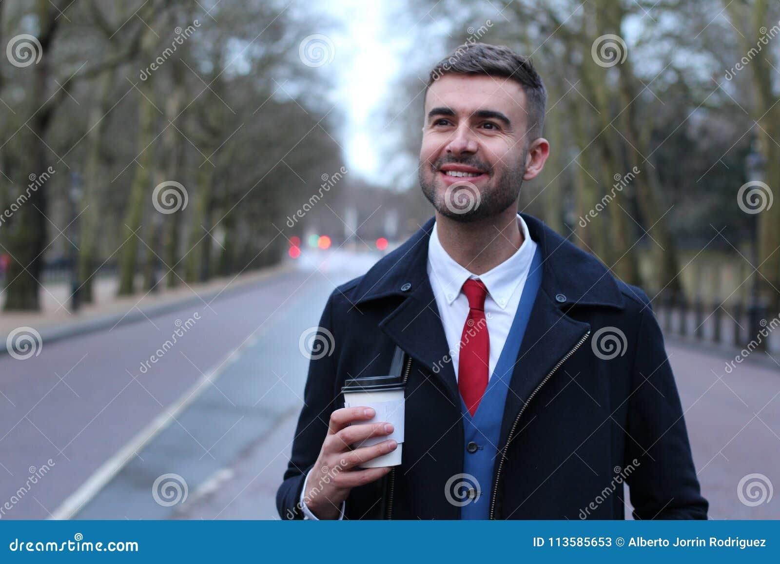 Take Break Coffeebreak : Businessman taking a coffee break stock image image of drink