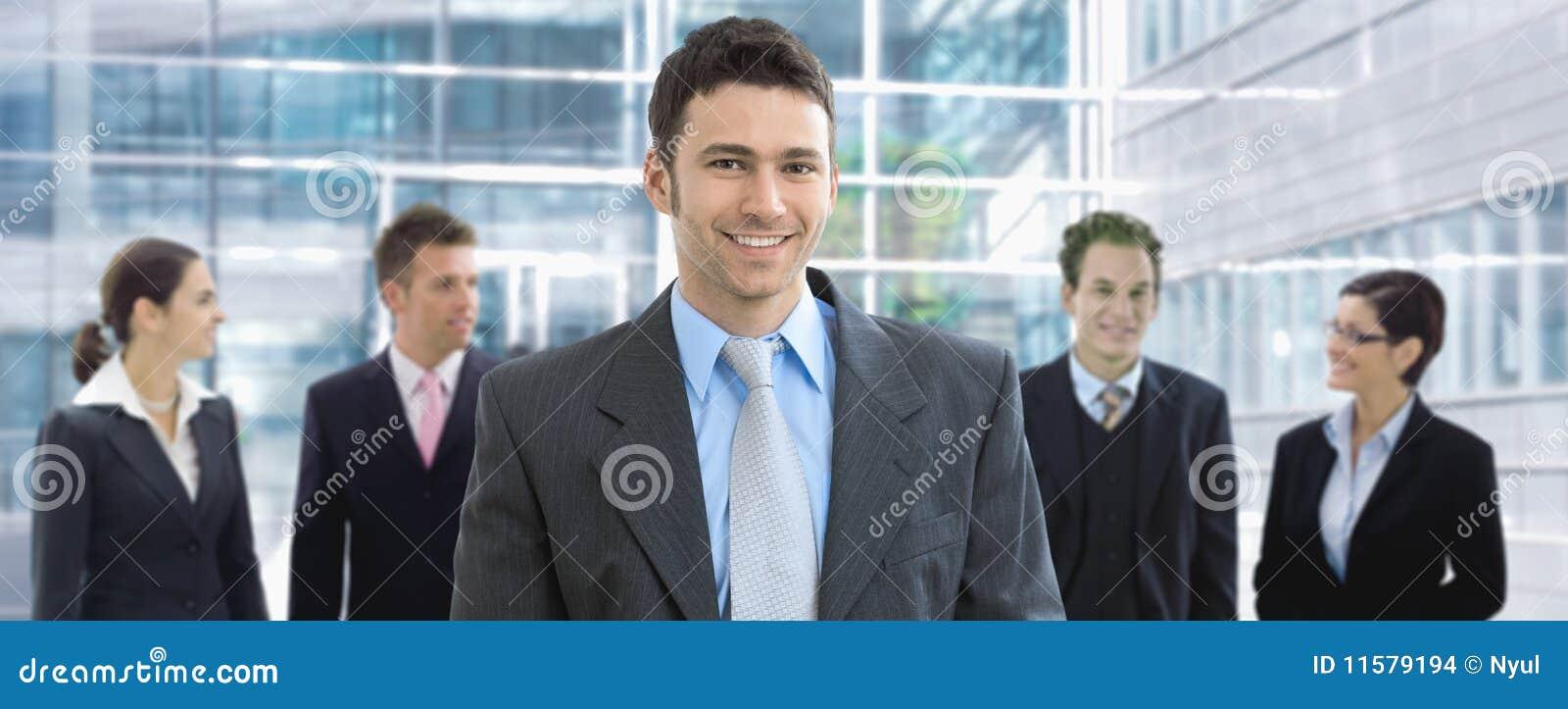 Businessman and team