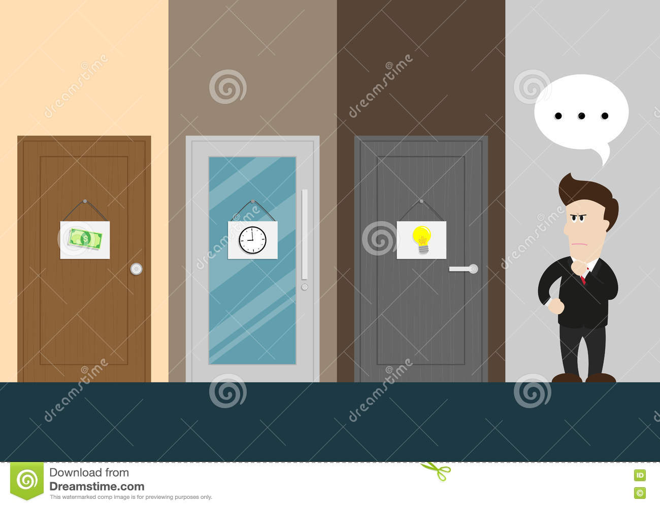 Wasting cartoons illustrations vector stock images for Idea accredited door dealer
