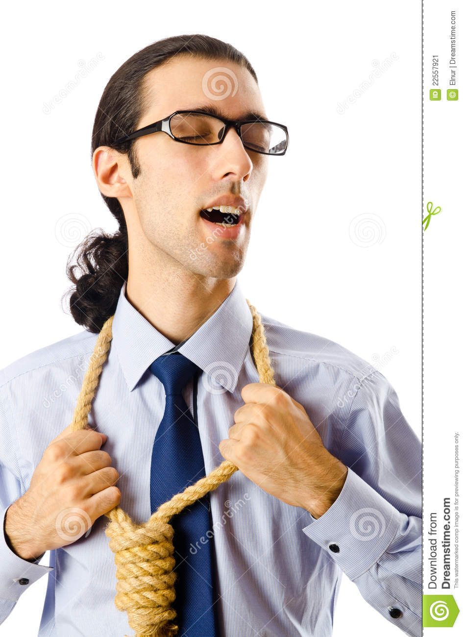 Stock Photo Aletia 164802918: Businessman With Thoughts Of Suicide Stock Image