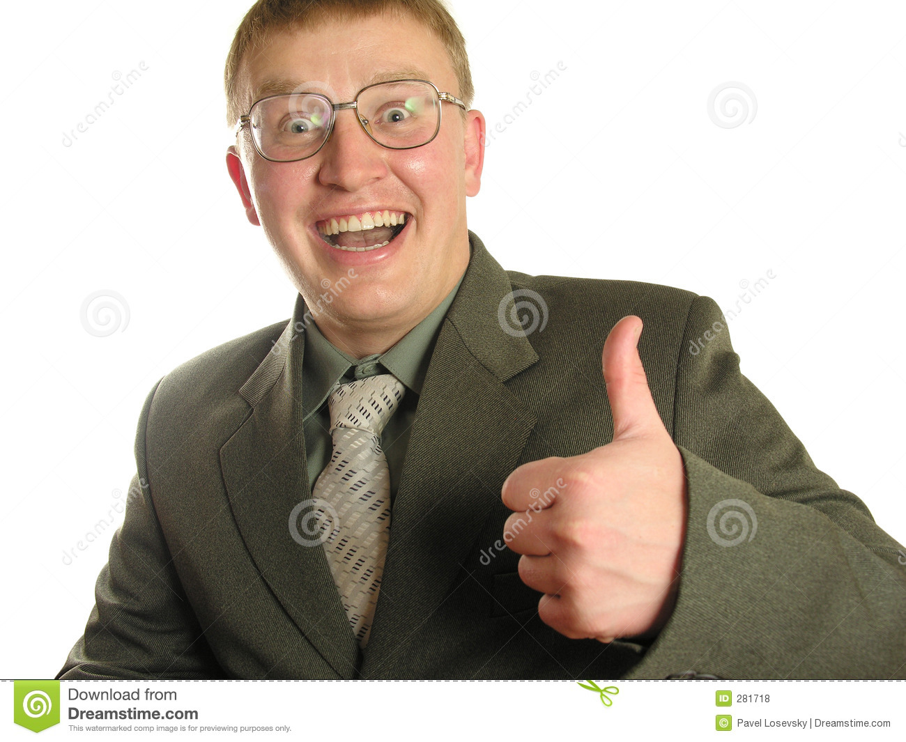 Businessman With Thumb Up in glasses
