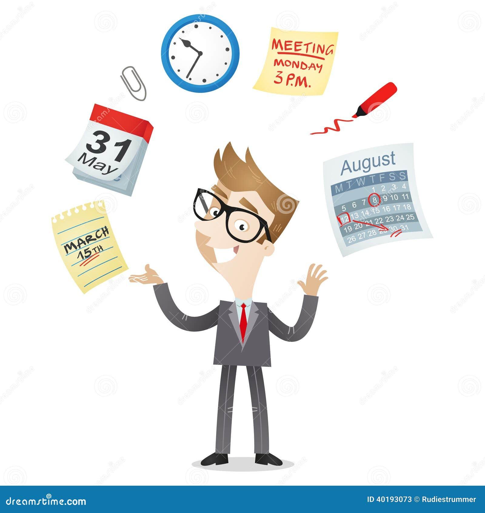 2d Home Design Software Online Businessman Time Management Calendar Icons Stock Vector