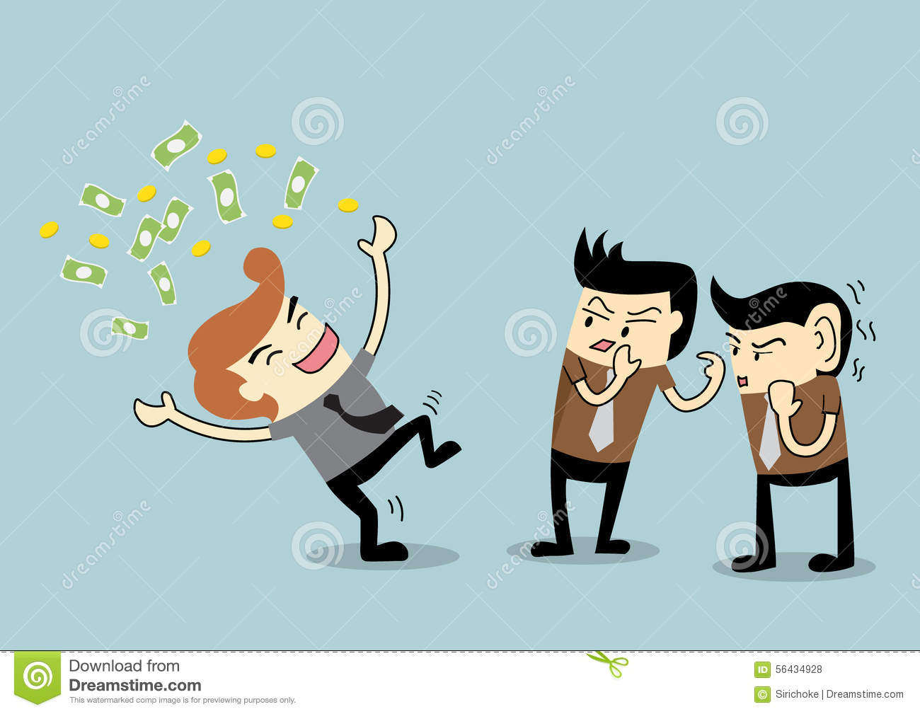 Businessman To Be Gossip To A Rich Employee Stock Vector border=