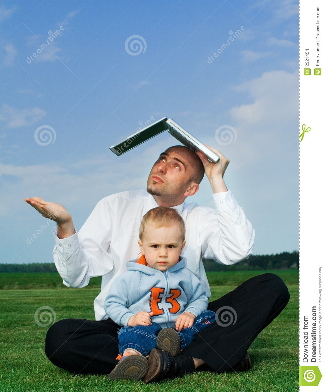 Businessman with toddler