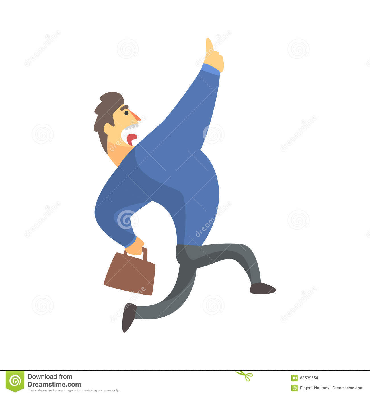 businessman top manager in a suit catching taxi office job businessman top manager in a suit running screaming office job situation illustration stock images