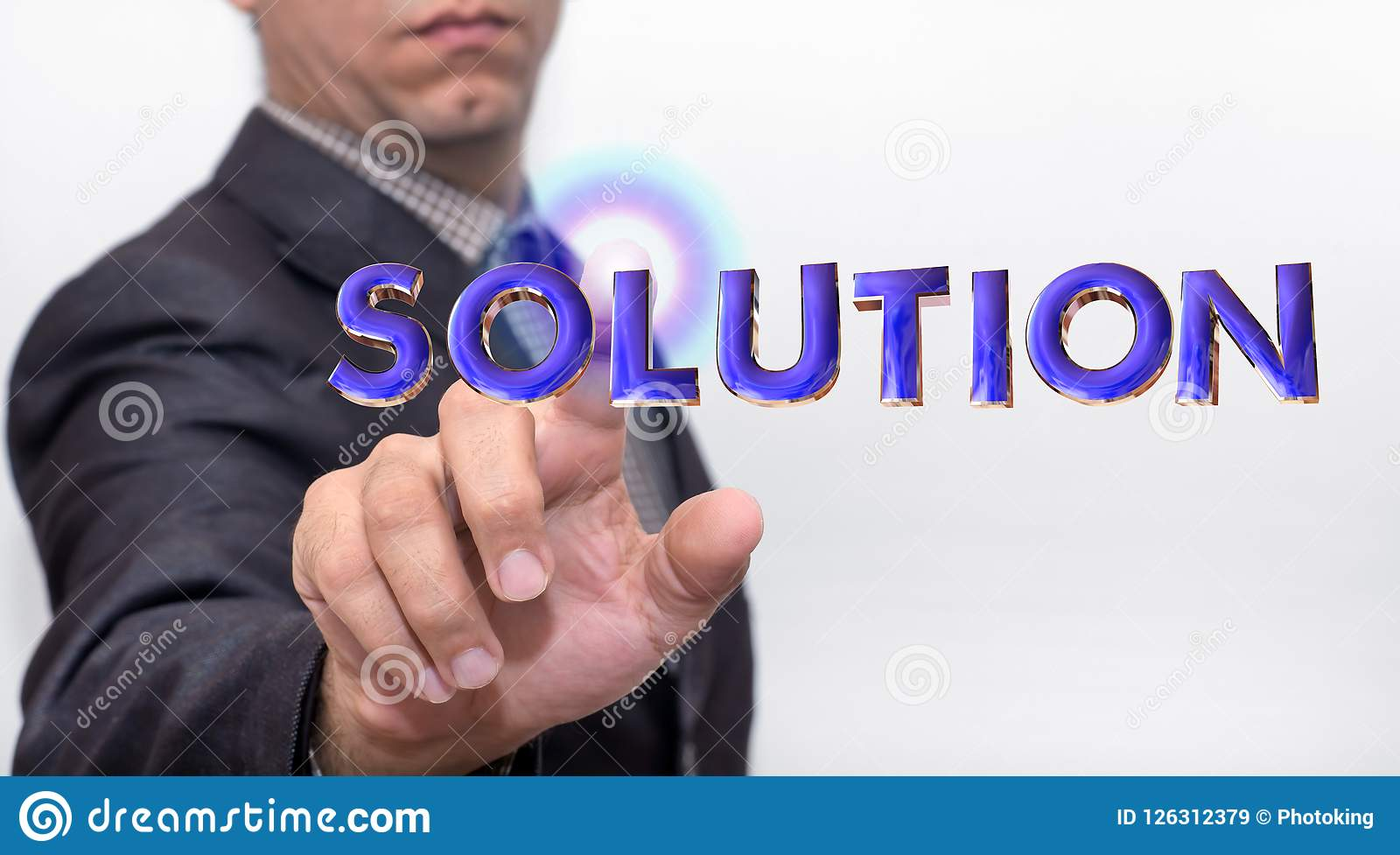 Touching solution word on air
