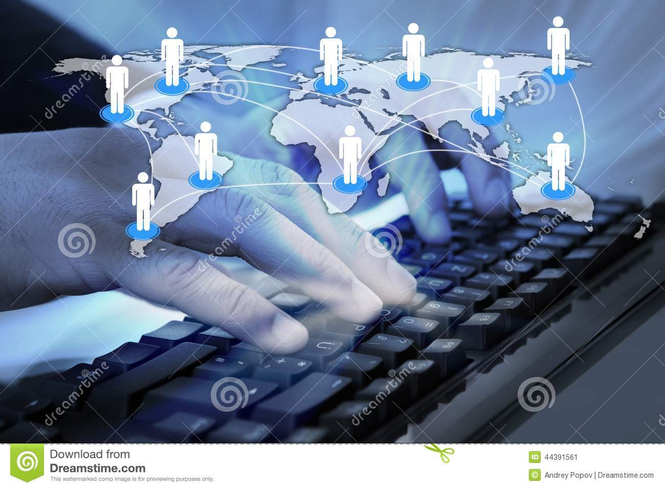 World Map Download For Computer. Businessman typing on computer keyboard with connected world map Typing On Computer Keyboard With Connected World Map