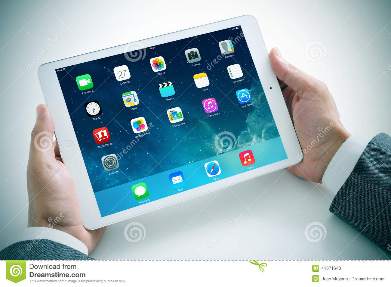 Businessman Using The New IPad Air Editorial Image - Image ...