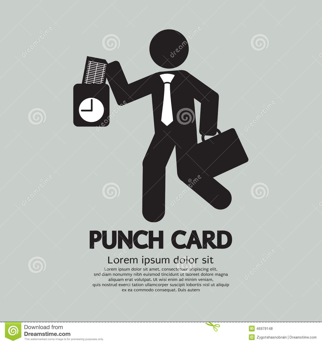 Businessman Using Punch Card For Time Check