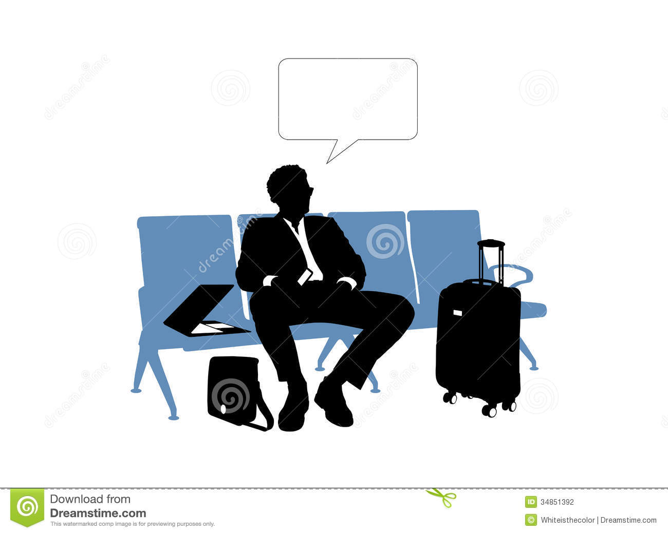 Businessman waiting in the airport stock photography image 34851392 - Black and wait ...