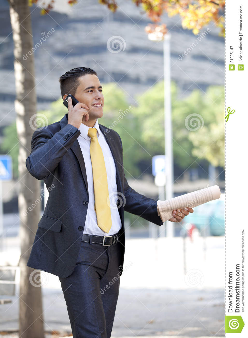 businessman walking at the city park royalty free stock photography