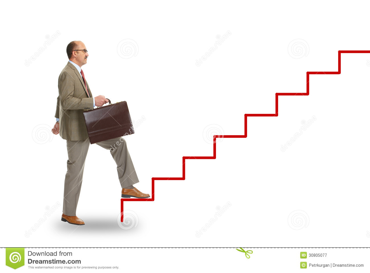 65 >> Businessman Walking On Drawing Stairs Royalty Free Stock Photography - Image: 30805077