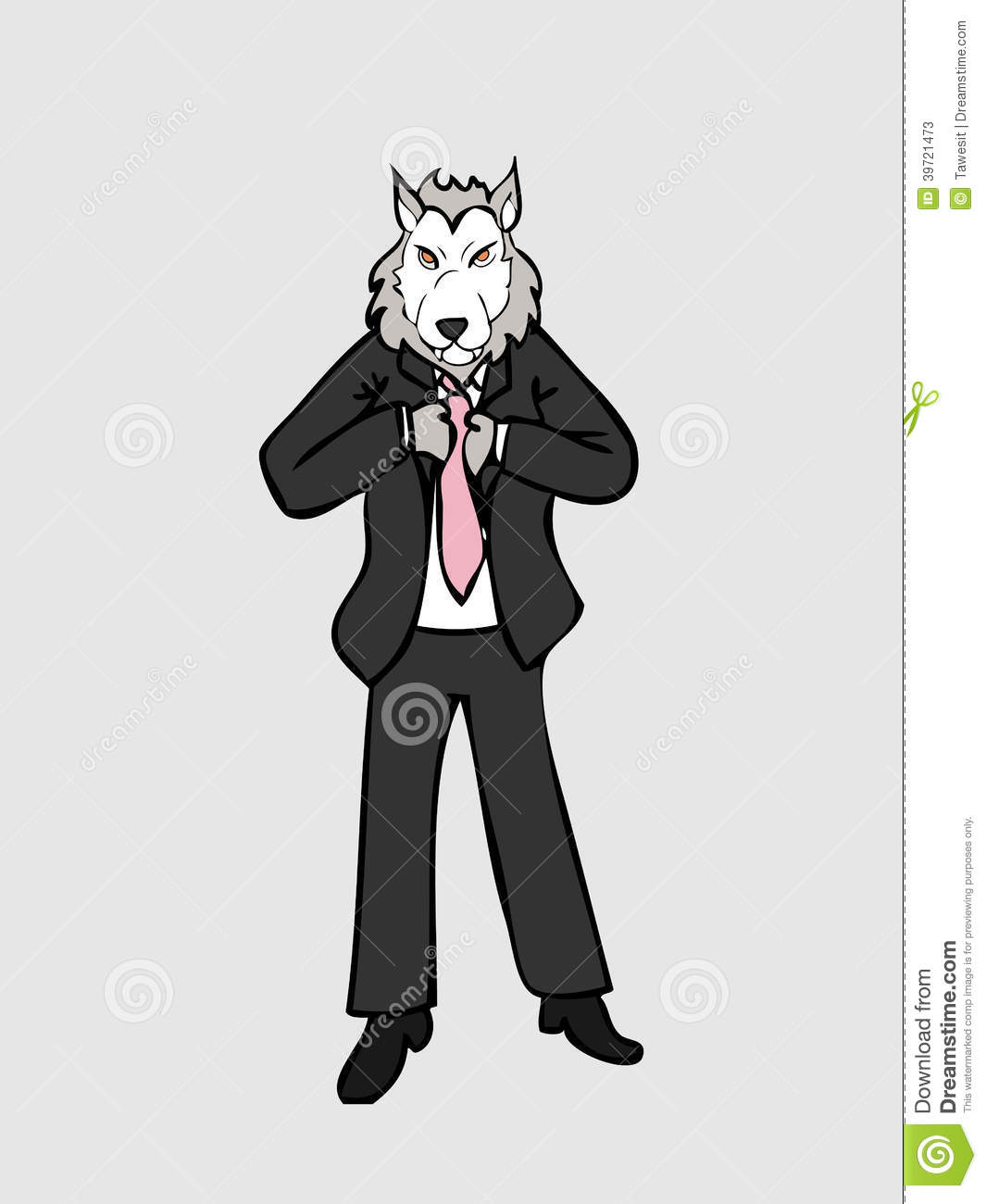 Businessman wolf