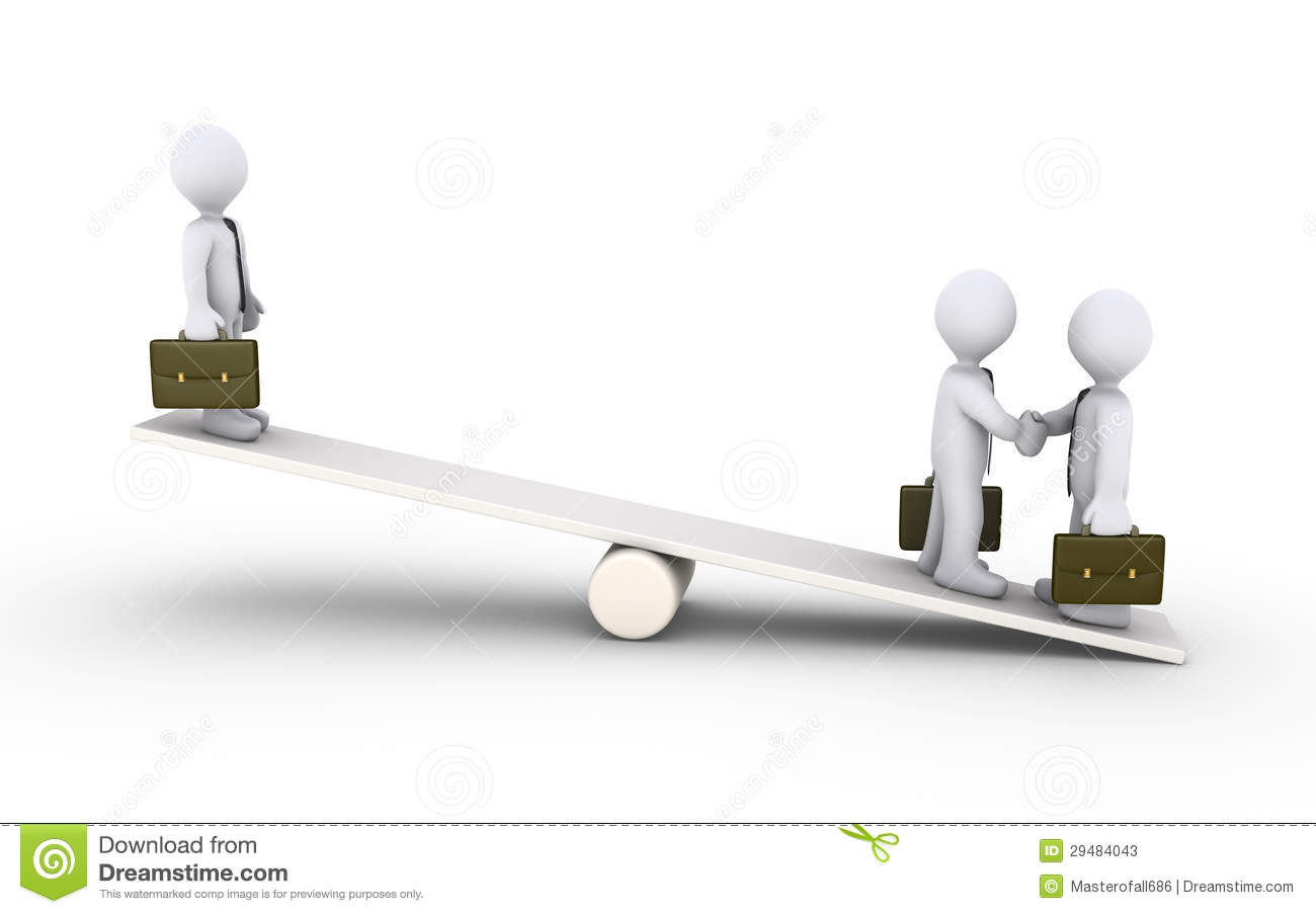 Businessmen agreement on a seesaw stock photos image for Seesaw plans designs