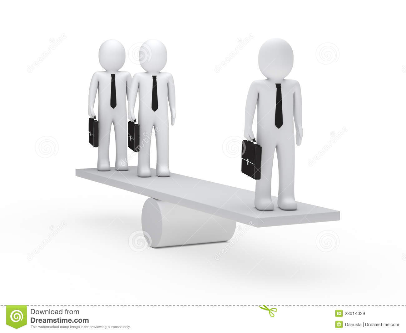 Businessmen balance on seesaw royalty free stock images for Seesaw plans designs