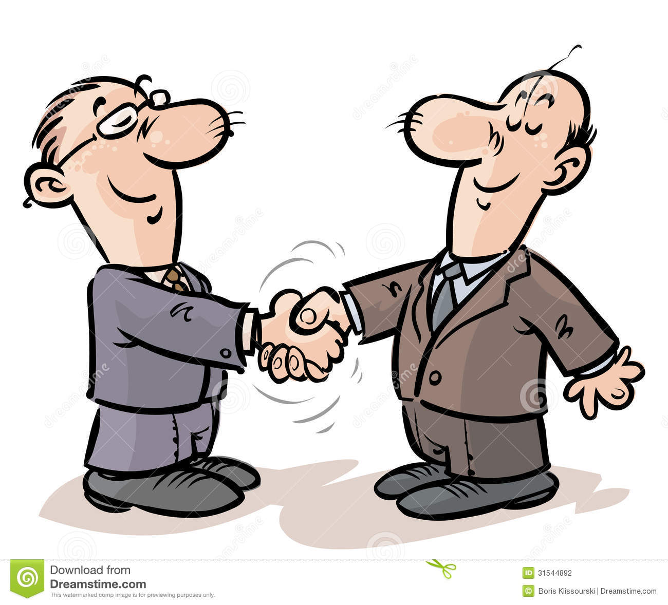 Businessmen Handshake. Stock Illustration. Illustration Of
