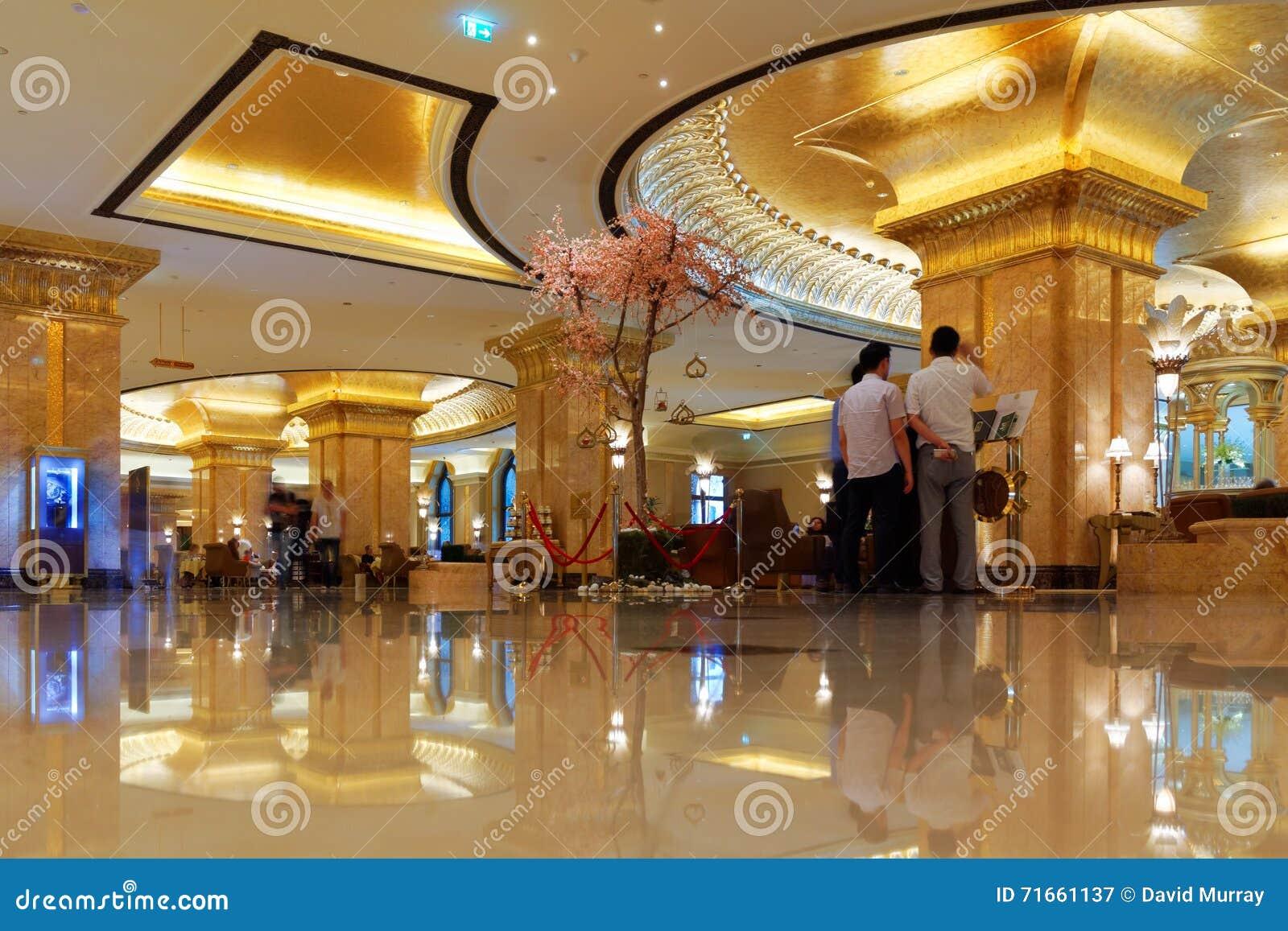Businessmen in Lobby of Emirates Palace Hotel, Abu Dhabi