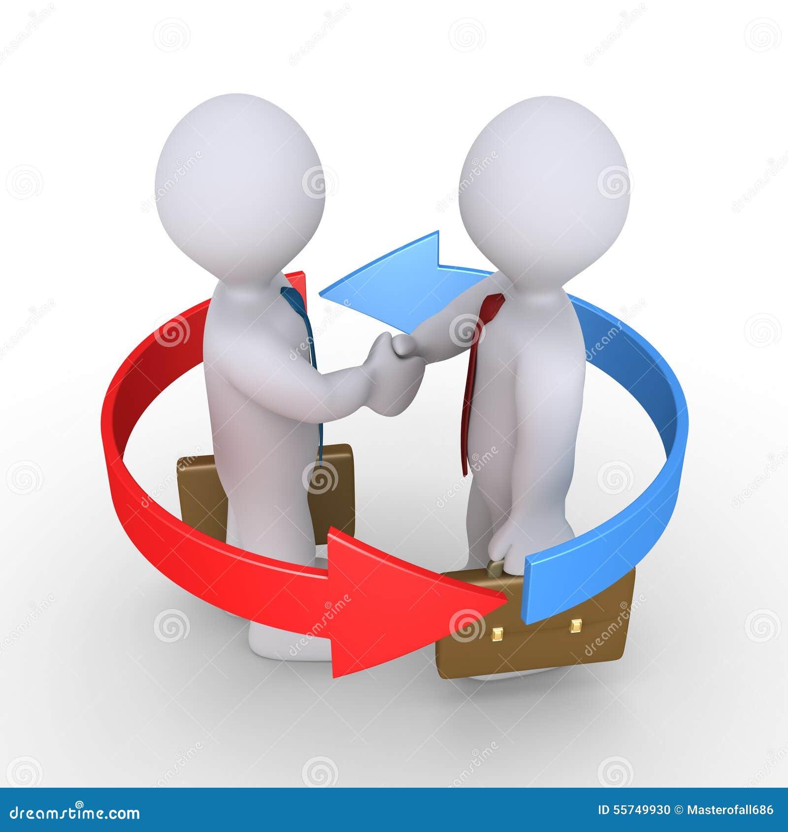 Businessmen Make Agreement Stock Illustration Illustration Of