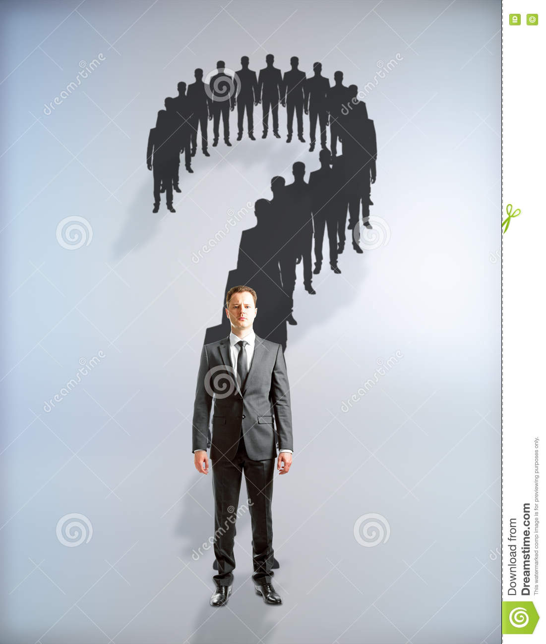 Thinking Question Mark Silhouette Stock Images - Download ...